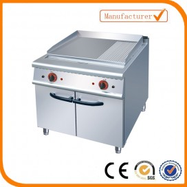 Gas griddle (2/3 flat&1/3 grooved)with cabinet