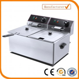 2 Tank 2 baskest electric fryer EF-6L-2 (Capacity6L+6L)