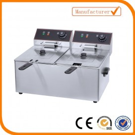 2 Tank 2 baskest electric fryer EF-8L-2 (Capacity8L+8L)