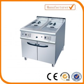 Unique gas fryer with cabinet